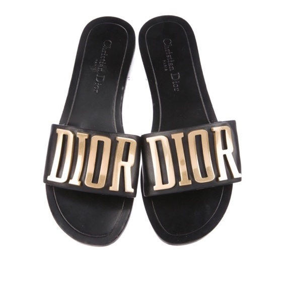 106f83a1176 Dior Shoes   Womens Metallic 2017 Evolution Slide Sandals   Poshmark